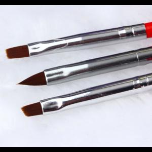 Набор кистей для дизайна ногтей Aliexpress 3pcs / Set Nail tools Acrylic UV GEL Nail Art Builder Brush Liner Design for acrylic nail brushes set Wholesale фото