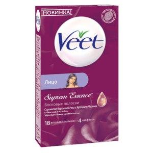 Восковые полоски для лица Veet Suprem' Essence фото