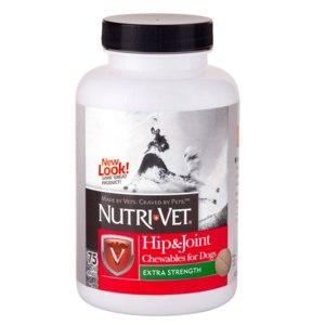Витамины  Nutri-Vet СВЯЗКИ И СУСТАВЫ ЭКСТРА (Hip&Joint Extra) глюкозамин хондроитин МСМ для собак фото