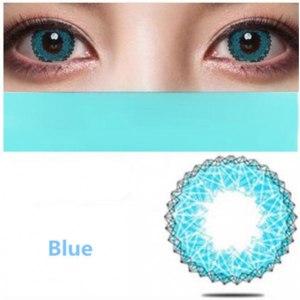 Контактные линзы цветные, увеличивающие глаза Joom  Colored contact lenses eye muse cosmetics big eyes фото