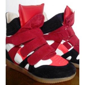 Сникерсы на танкетке Aliexpress Height Increasing Autumn Women Sneakers Summer Botas Femininas Brand Ladies Wedge Platform Autumn Ankle Boots DIWS1001 фото