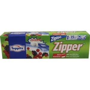 Пакеты для заморозки Topper Zipper со встроенной застежкой молнией фото