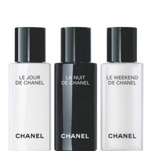 Набор мини-продуктов Chanel сыворотка le jour la nuit le weekend de фото