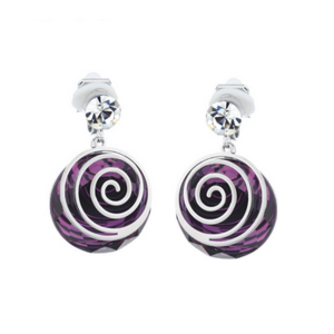 Клипсы Aliexpress Neoglory Purple Neoglory Purple Crystal Rhinestone Drop Earrings For Women Female Stylish Jewelry Charm Brand Gifts 2015  фото