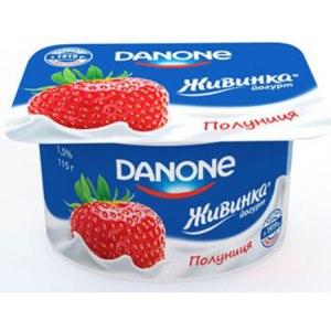 Йогурт Danone Живинка Клубника фото