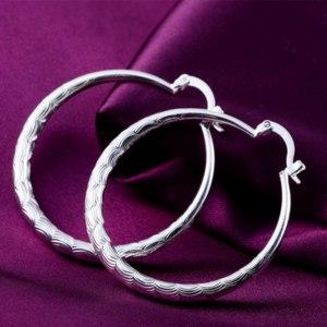 Серьги Ebay hot wedding women Silver Fashion Elegant Charms Cute lady Earring jewelry e295 фото