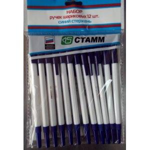 Набор ручек шариковых СТАММ 12 штук Fix Price фото