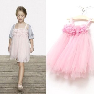 Платье AliExpress   Toddlers Baby Kids Girls Chiffion Lace Sling Tulle Dresses Kids Dresses For Girls Puff Child Dress ACA FREE SHIPPING фото