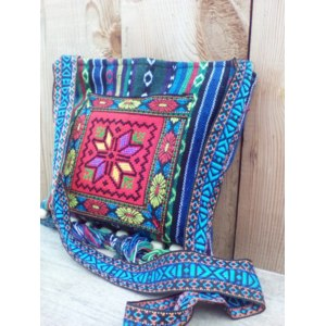 Сумка Женская Aliexpress Vintage Hmong Thai Indian Ethnic shoulder bag Hippie hobo bag Messenger Bag New фото