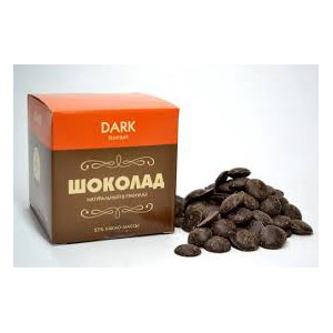 Шоколад Delice de chocolat Натуральный горький в диамантах фото