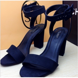 Босоножки Aliexpress 2015 summer new women spell color buckle shoes with thick high-heeled sandals fish head фото