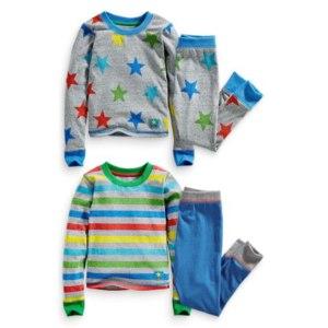Пижама NEXT Набор из двух теплых пижам (серая с разноцветными звездами/в полоску) Артикул 114-647-X55  фото