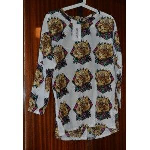 Блуза / рубашка AliExpress WOMEN TIGER HEAD PRINTING CREW NECK LONG SLEEVE CHIFFON SHIRT GWF-61229 фото