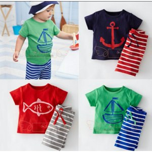 Костюмчик AliExpress Free shipping  Summer 2015 new short sleeved shirt+short pants  boy stripes 2 piece boy kids suit for 3 colors wy290 фото