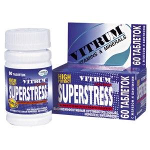 Витаминно-минеральный комплекс Unipharm Vitrum (Витрум) SUPERSTRESS (Суперстресс) фото
