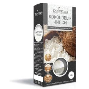 Кокосовые чипсы Polezzno необжаренные фото