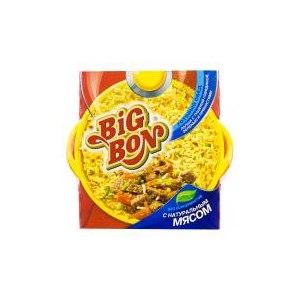 Лапша быстрого приготовления Big Bon Тушеная с говядиной, зеленью и пряностями фото