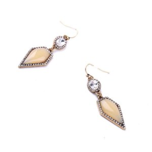 Серьги Aliexpress 2015 New Designer Crystal Stones Drop Earrings with gold-plated color for Women | Free Shipping фото