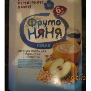 Каша ФрутоНяня Молочная с фруктами фото