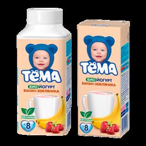Детское питание Тёма Биойогурт с бананом и земляникой 2,8% фото
