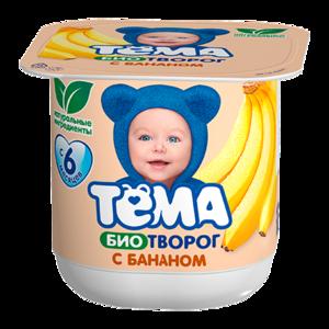 Творожок Тёма Биотворог с бананом фото