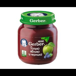 Пюре Gerber яблоко-черника  фото
