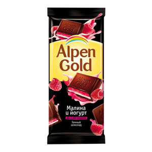 Шоколад Alpen Gold малина и йогурт фото