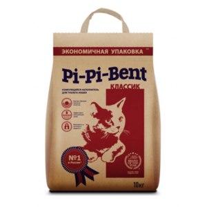 Комкующийся наполнитель для кошачьего туалета Pi-pi-bent Натуральный. Традиционный. Профессиональный. фото