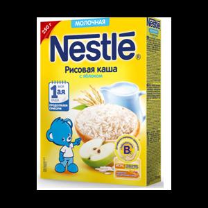Каша рисовая Nestle Молочная с яблоком фото