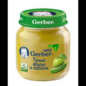 Пюре Gerber кабачок - яблоко фото