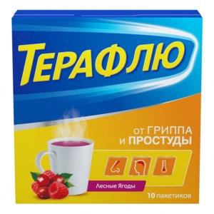 Средства д/лечения простуды и гриппа Novartis ТЕРАФЛЮ со вкусом лесных ягод / TERAFLU taste of wild berries фото