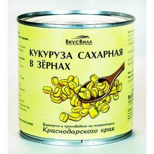 Консервированная кукуруза ВкусВилл / Избёнка Сахарная в зернах фото