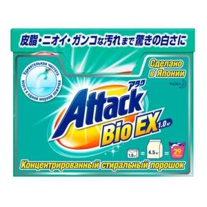 Концентрированный универсальный стиральный порошок ATTACK BioEX фото