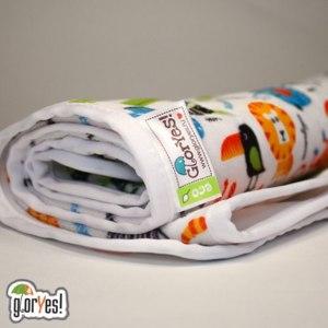Многоразовая непромокаемая пеленка плюшевая (клеенка) GlorYes! фото