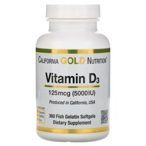 Витамины California Gold Nutrition Vitamin D3 5000 IU фото