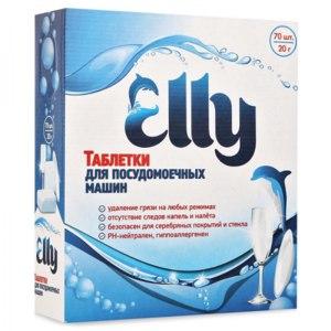 Таблетки для посудомоечной машины Elly 70 шт. 20 г. фото