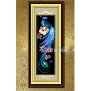 Алмазная вышивка Aliexpress 5D DIY Embroidery Animal Blue Phoenix Cross Stitch Kits Pattern Crystal Rhinestone Round Diamond Painting Technology Mosaic фото