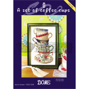 """Набор для вышивания корейской фирмы «DOME» - 100108 """"A set of coffee cups"""" фото"""