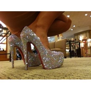 Туфли на высоком каблуке Aliexpress Luxury Daffodile 140mm/160mm Heel Diamond Platform Bridal Pumps Shoes AB Crystal Rhinestone High Heels Wedding Shoes фото