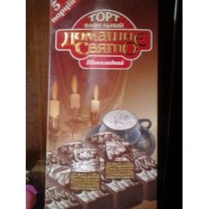 Торт вафельный  ООО Мир лакомств Домашнэ Свято ( Домашний праздник ) Шоколадный фото