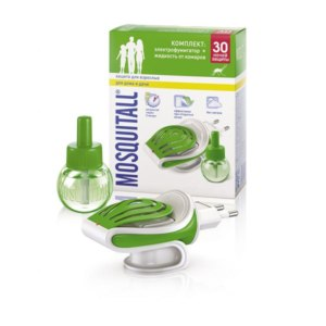 Средство от комаров Mosquitall Комплект: электрофумигатор+жидкость фото
