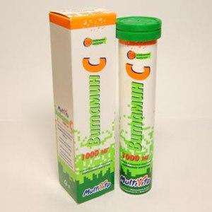 Витамины Мультивита Витамин С (аскорбиновая кислота) таблетки шипучие фото