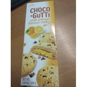 Печенье Bogutti Choco-Gutti с апельсиновым кремом и шоколадными дропсами фото