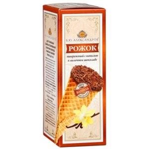 Рожок творожный Б.Ю. Александров  с ванилью в молочном шоколаде фото