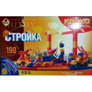 Кроха Конструктор Стройка 190 дет фото