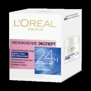 Крем для кожи вокруг глаз L'Oreal Paris Увлажнение ЭКСПЕРТ 24ч фото