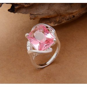 Кольцо Aliexpress 2015 cheap hot silver rings factory oem us size 7 8 9 stock wholesale pink silver stmped 925 free shipping фото