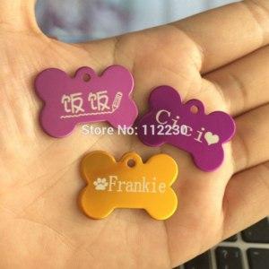 Адресник Aliexpress Mini Bone Shaped Pet ID Tag for Tiny Doggy Kitty Kitten Puppy Custom Personalized Engraved Aluminium Alloy Tag Buy 3 get 1 FREE фото