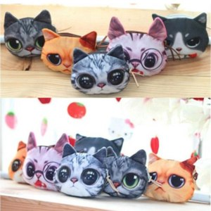 Кошелек Ebay Fashion Womens Girls Plush Toy Cute Cat Shape Purse Small Bag Change Purses Gift фото
