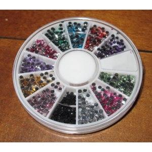 Стразы для дизайна ногтей Aliexpress Стразы для ногтей 1.5mm 1800pcs Nail Art 3D DIY Rhinestones Decoration For UV Gel Acrylic Systems фото